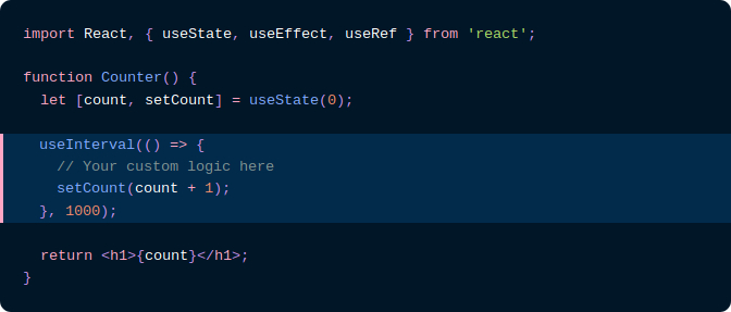 Snippet of code from Dan Abramov's blog