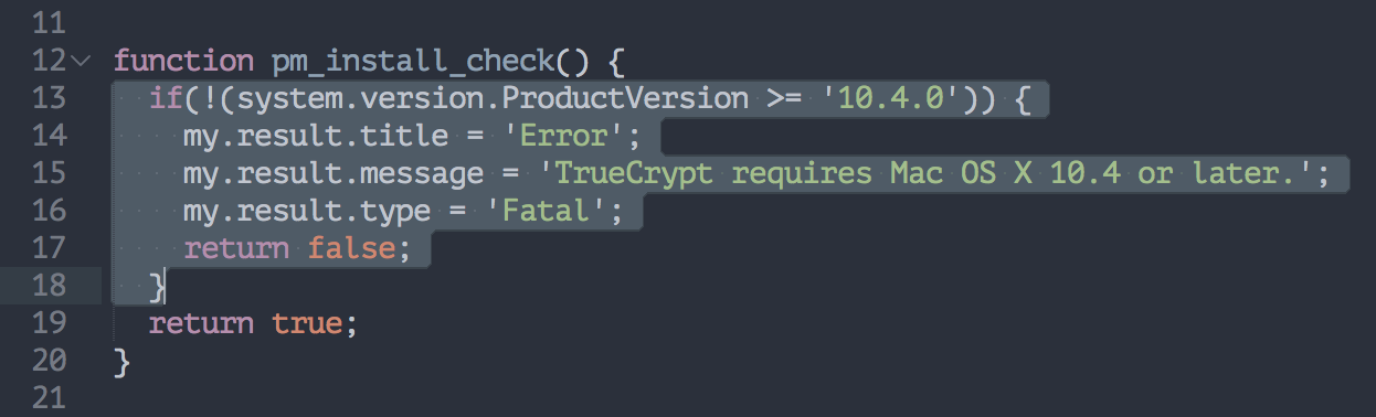 Snippet showing the code that you have to remove